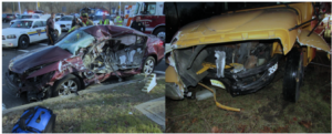 The fatal impact: Mr. McCracken's Honda Accord and the STA Bus: (Source: SMBB)
